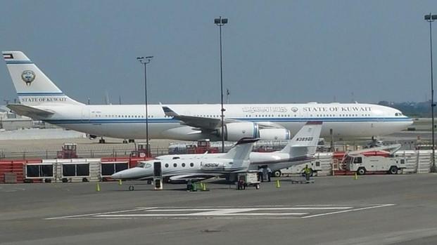 Dignitaries Plane from Kuwait @ KJFK