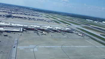 Shot of concourses at KATL from Tower Cab