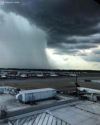 Serious Rain Shaft over KATL