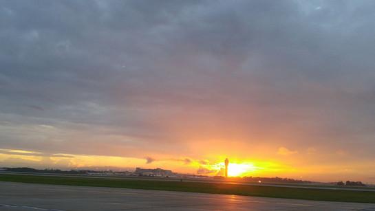 Cloudy Sunrise over MCO