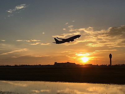 Sunset over MCO