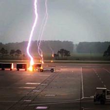 Close Lightning Strike @ KIAH