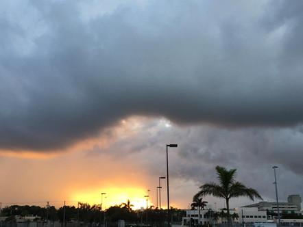 Sun shining through a storm @ KPBI