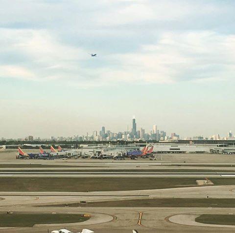 Shot of Chicago skyline from KRFD
