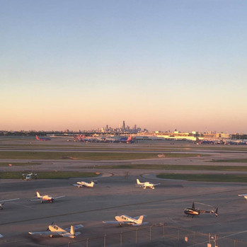 Clear evening at MDW
