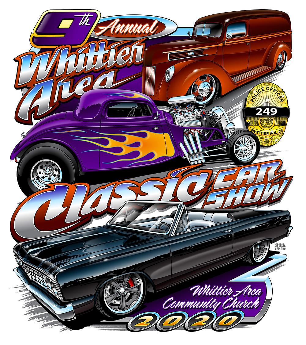 Whittier Area Classic Car Show Flyer 2020