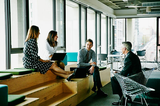 Reunión de negocios informal
