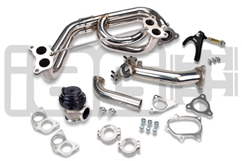 IAG EXT. WASTEGATE UPPIPE KIT W/TIAL 38MM V-BAND WASTEGATE & EQUAL LENGTH HEADER
