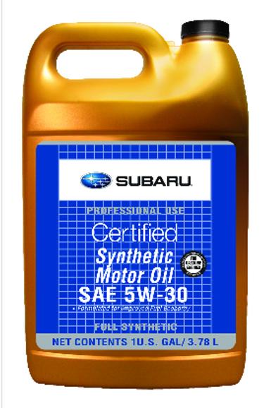 GENUINE SUBARU CERTIFIED 5W-30 SYNTHETIC MOTOR OIL