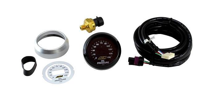 AEM ELECTRONICS OIL PRESSURE GAUGE DIGITAL 0-150 PSI 52mm