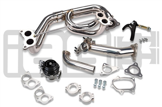 IAG EXTERNAL WASTEGATE UPPIPE KIT W/ TIAL 44MM V-BAND WASTEGATE & E.L. HEADER