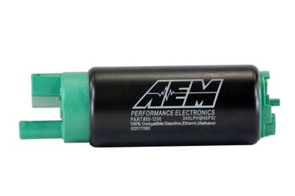 AEM 340LPH 65MM FUEL PUMP KIT W/ MOUNTING HOOKS- ETHANOL COMPATIBLE