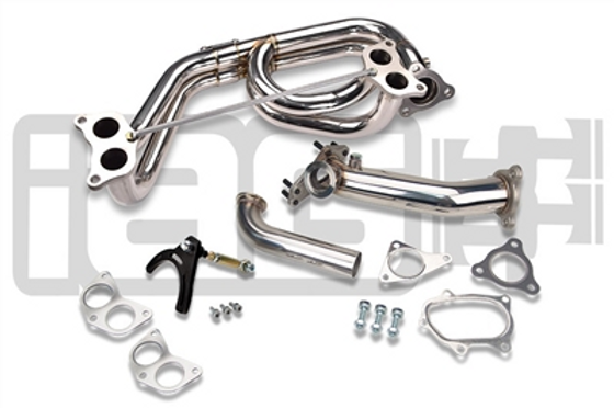 IAG EXTERNAL WASTEGATE 44MM V-BAND UPPIPE KIT WITH EQUAL LENGTH HEADER