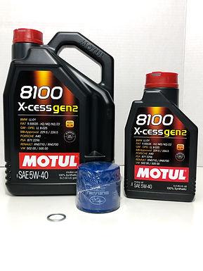 MOTUL XCESS 8100 5W-40 COMBO - EJ SUBARU