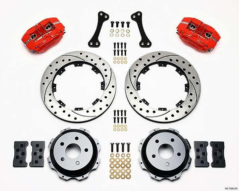 WILWOOD DYNAPRO 12.19 IN REAR KIT DRILLED/ SLOTTED RED 02-05 WRX