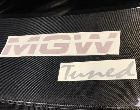MGW TUNED DECALS