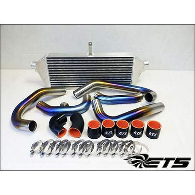 ETS BURNED TITANIUM FRONT MOUNT INTERCOOLER PIPING KIT 04-07 STI