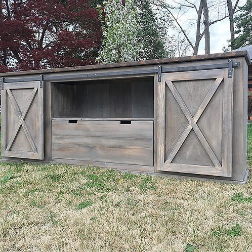 Barn Door Console with Drawer