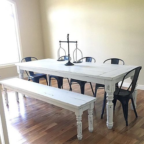 Distressed Fancy Farmhouse Table