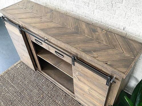 Modern Barn Door Console