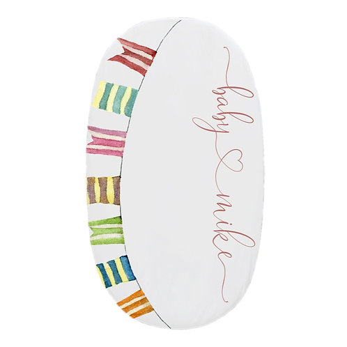 Personalized oval fitted sheet - llama garland