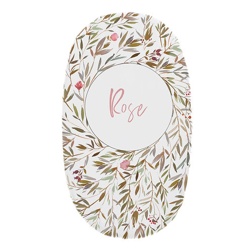 Personalized oval fitted sheet - enchanted roses