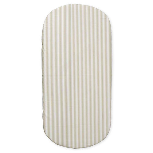 Oval crib fitted sheet - neutral