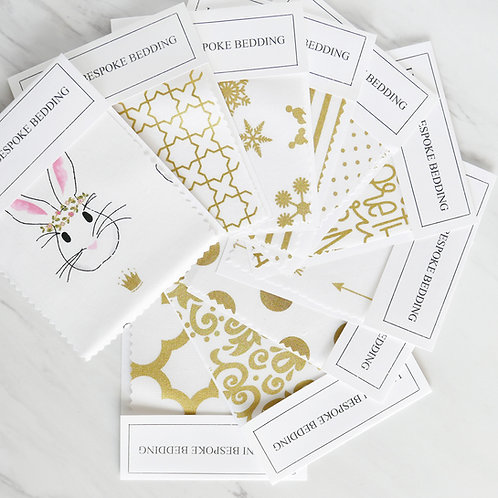 Swatch - bunnies & gold
