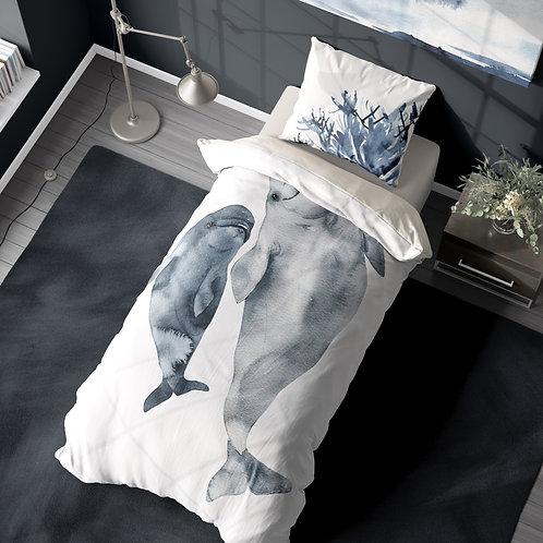 Personalized duvet cover - Whale Mamma Beluga