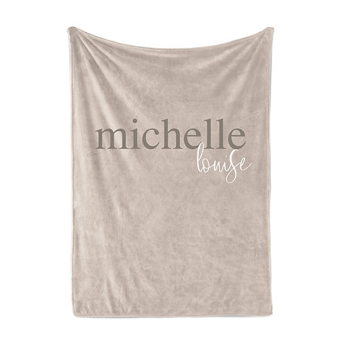 Personalized Throw Light Blanket - Two names