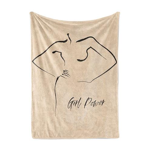 Personalized light blanket - Girl Power