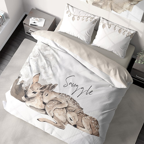 Personalized duvet cover - White Christmas