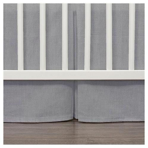 Crib skirt - boys linen