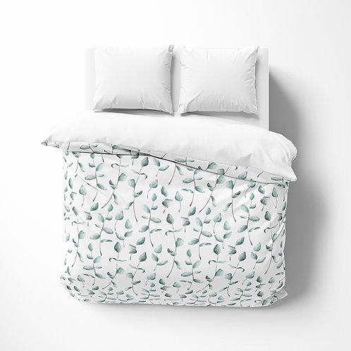 Personalized comforter - Botanical Eucalyptus Leaves