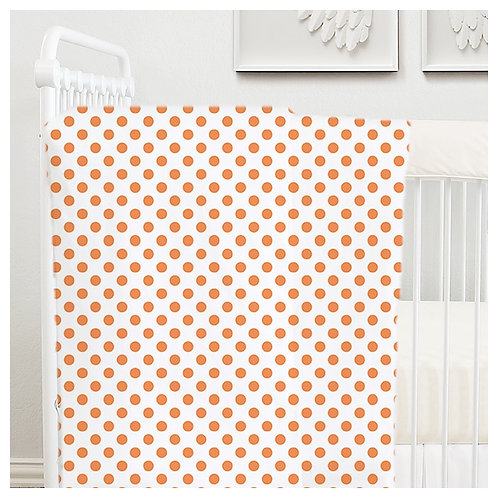 toddler quilt - orange