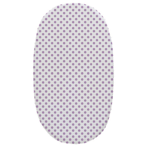 Oval crib fitted sheet - lavender