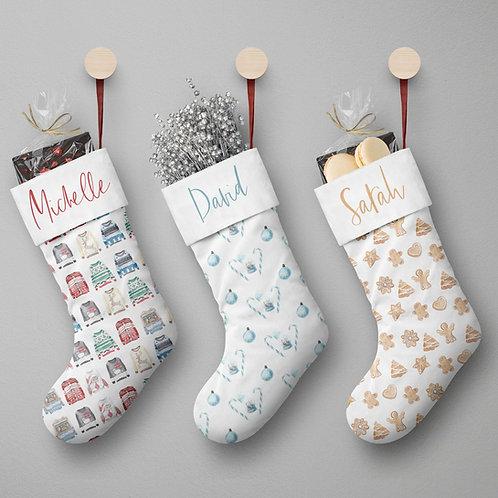 Holiday Stocking - White Christmas