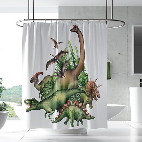 Shower Curtain - Dino Jurassic park