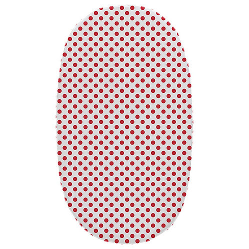 Oval crib fitted sheet - red