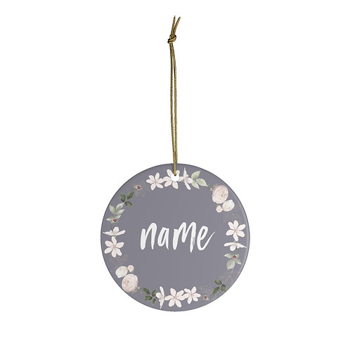 Ceramic Ornament - Royal ballet wreath