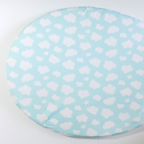 Clearance fitted sheet - organic clouds