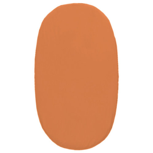 Oval crib fitted sheet - orange
