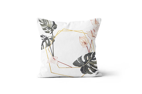 Personalized Monstera D Throw Pillow