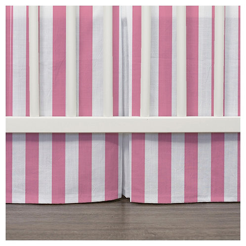 Crib skirt - pinstripes