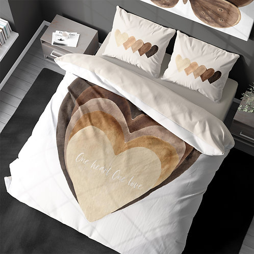 Personalized duvet cover - BLM One heart