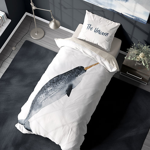Personalized duvet cover - Narwhal