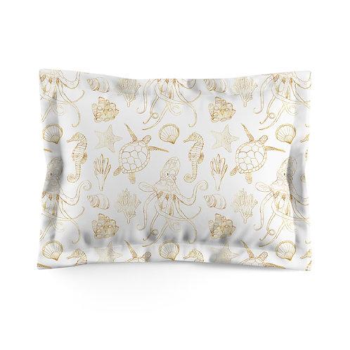Flanged pillowcase - Ocean