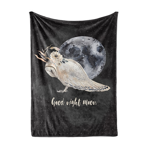 Personalized light blanket - Goodnight moon owl