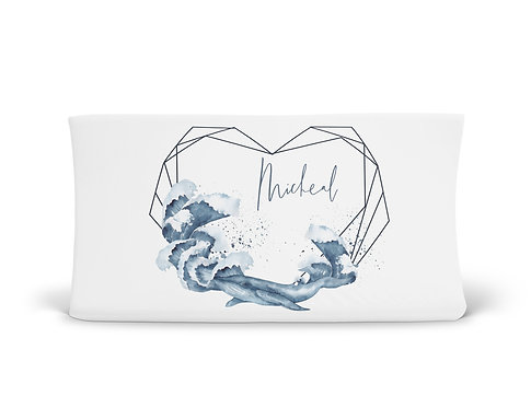 Personalized Changing Pad - Whale & Waves