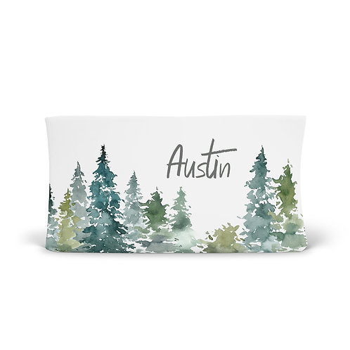 Personalized Changing Pad - Enchanted forest